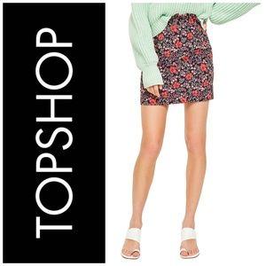 TopShop High Waisted Poppy Jacquard Mini Skirt
